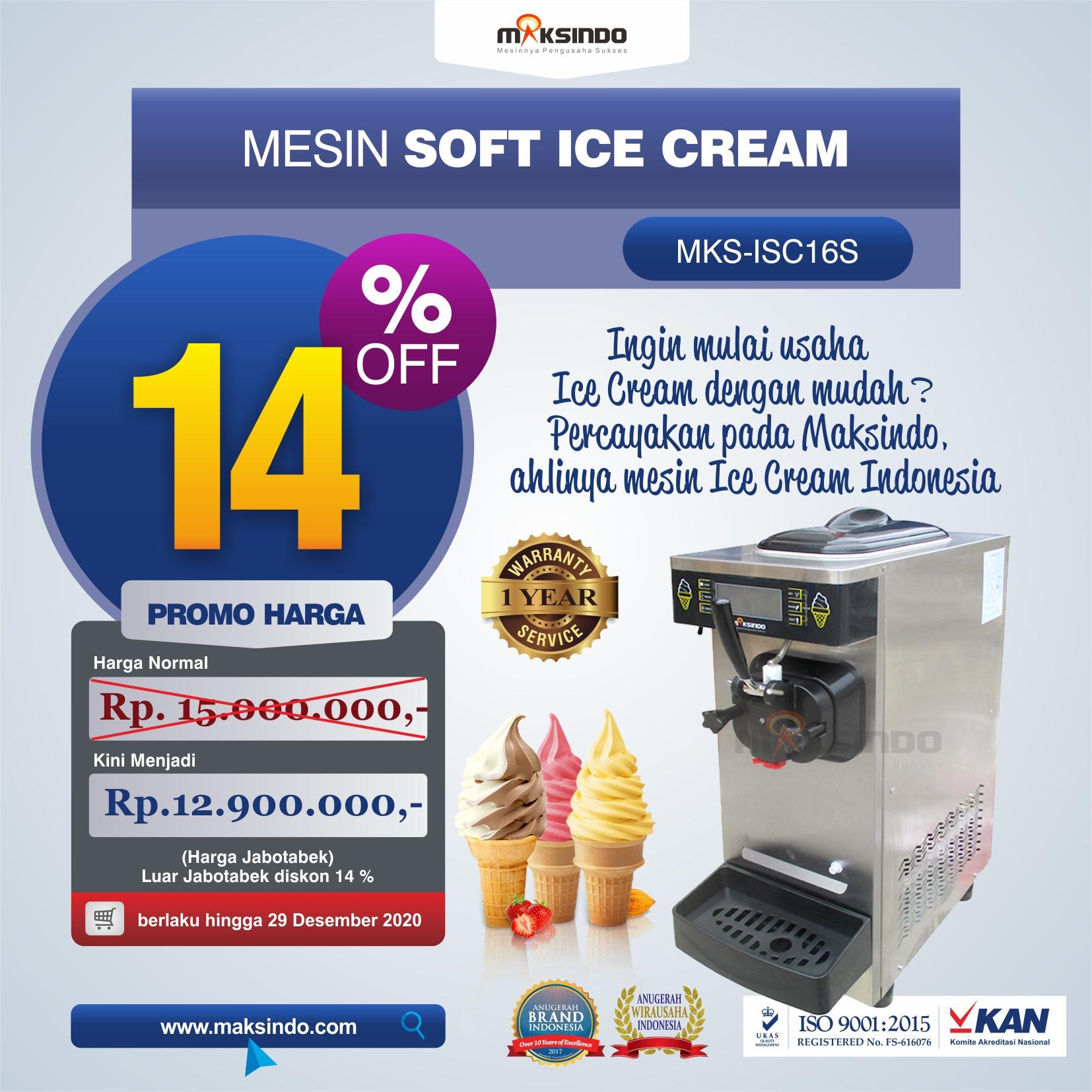 Jual Mesin Soft Ice Cream ISC-16S Di Malang