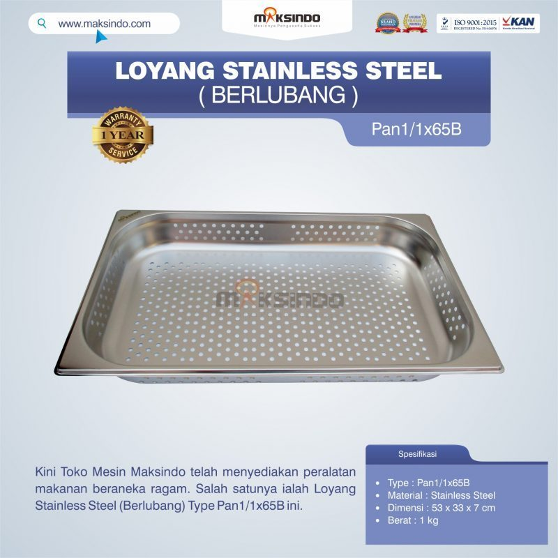 Jual Loyang Stainless Steel (Berlubang) Type Pan1/1x65B di Malang
