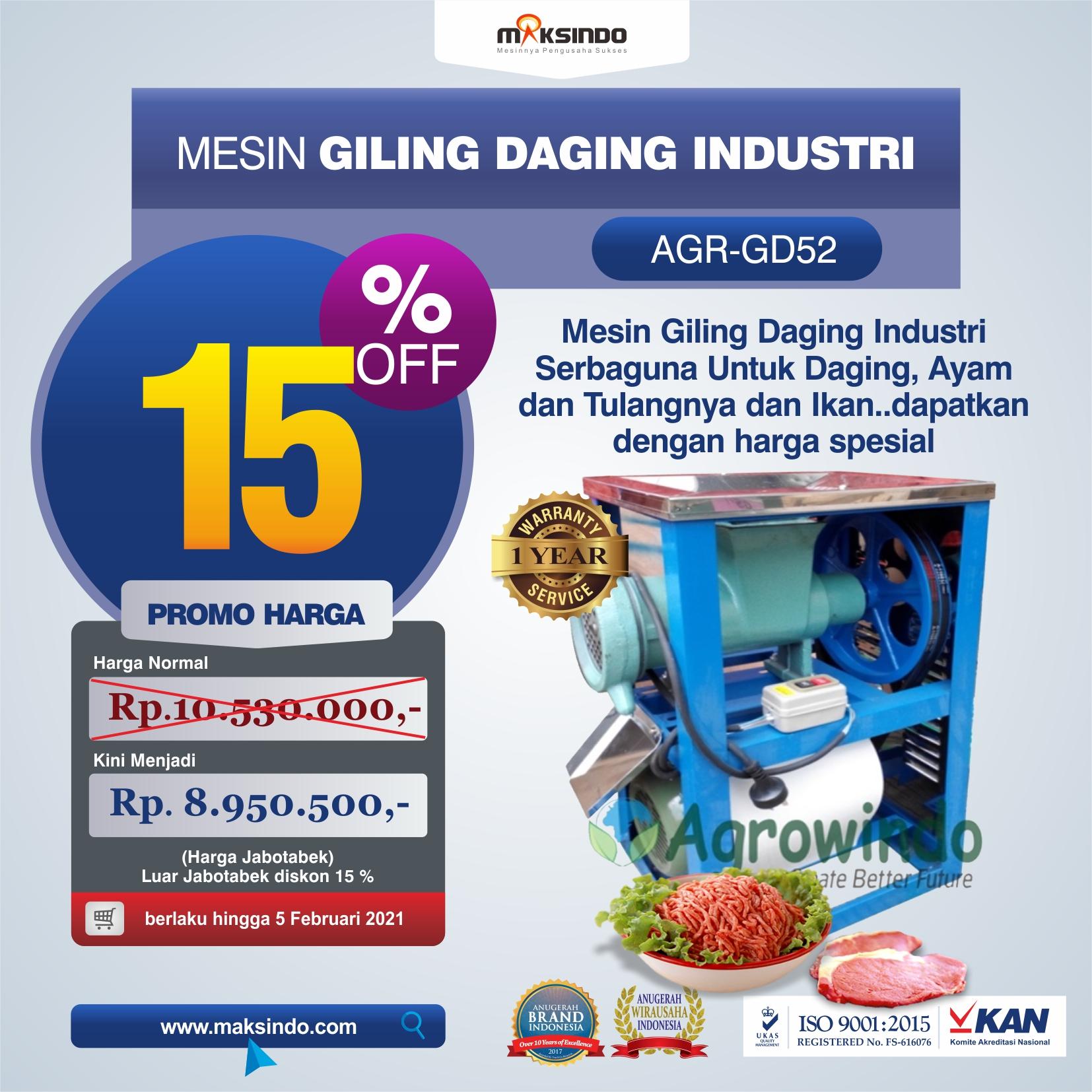 Jual Mesin Giling Daging Industri (AGR-GD52) di Malang