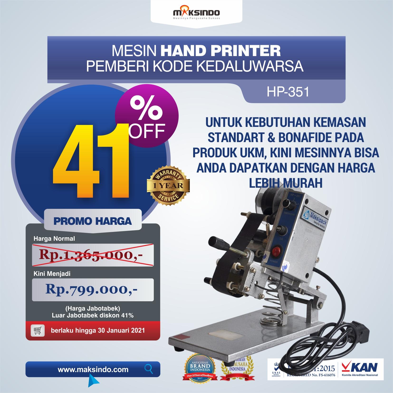 Jual Mesin Hand Printer (Pencetak Kedaluwarsa) di Malang
