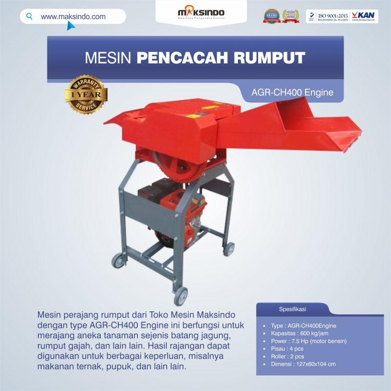 Jual Mesin Pencacah Rumput AGR-CH400 Engine di Malang